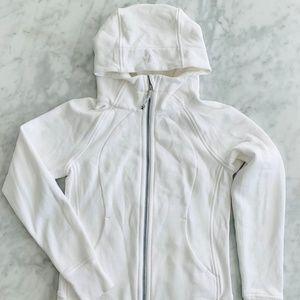 Lululemon White Scuba Hoodie Jacket 6 Cotton NWOT